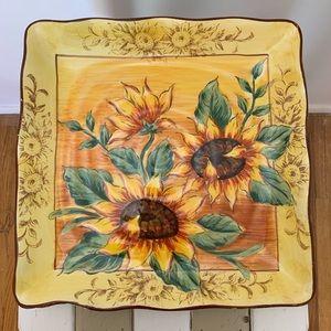 Sunflower Ceramic Serving Plate